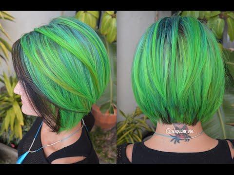 Pravana Neon Blue Green Hair Color Inspired By Guy Tang