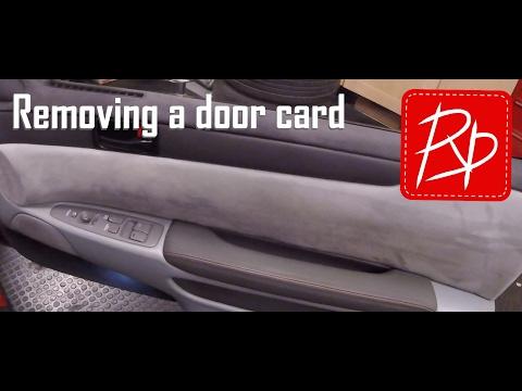 Soarer 1jz - Removing A Door Card / Upper Window Surround - Soarer Modifications & How-To Vlog