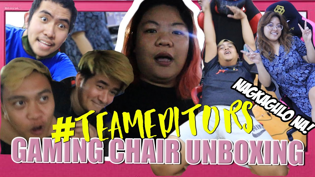 #TEAMEDITORS Dream GAMING CHAIR come true! (UNBOXING) w/ Bods, Kevin, Angel, Josh Pint & Viy Cortez