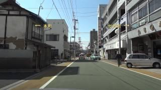 緑町、専称寺を通り山形済生館から豊烈神社へ  Running City Road