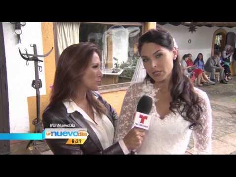 Blanca Soto en Grabaciones Señora Acero Nota Un Nuevo Día 29-Jul-14