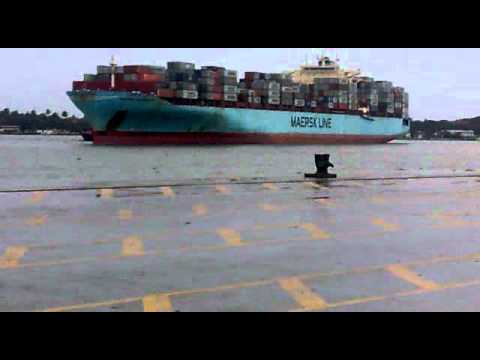 MOTHERSHIP(Maersk Lines's largest ship arriving in SouthIndia) HAS LANDED IN ICTT VALLARPADAM