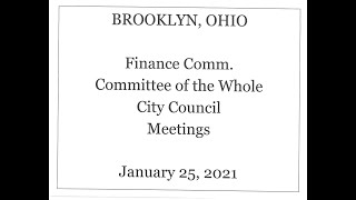 Brooklyn City Council - Jan. 25, 2021