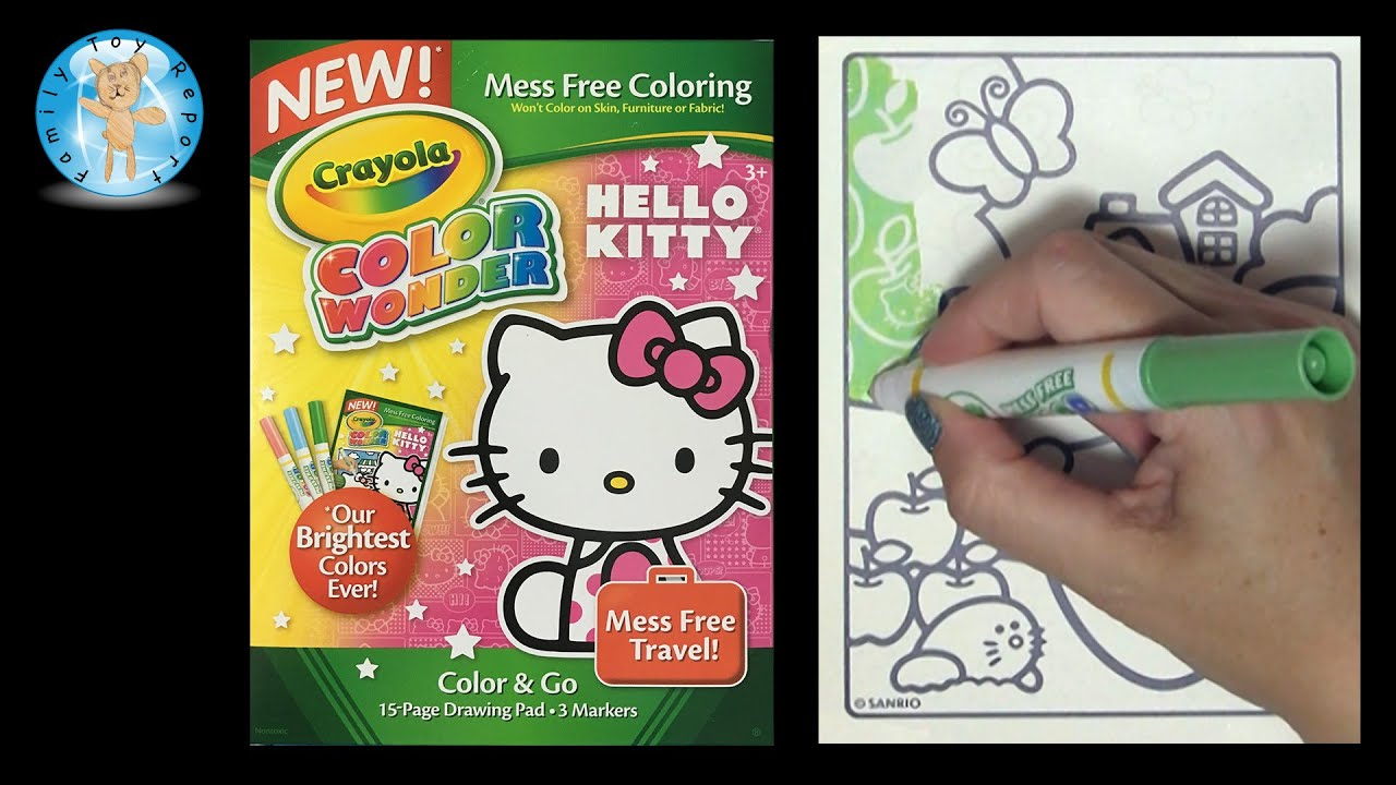 crayola color wonder hello kitty coloring book apple family toy report - Color Wonder Coloring Books
