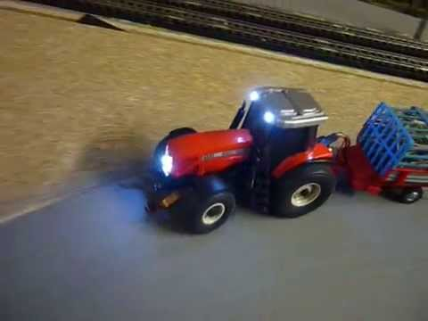 faller car system traktor massey ferguson mit heulader anh nger und beleuchtung youtube. Black Bedroom Furniture Sets. Home Design Ideas