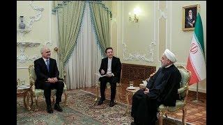 Азербайджанская делегация встретилась с Президентом Ирана