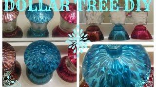 DIY DOLLAR REE BEAUTIFUL COLORED MIRROR JAR SET -DOLLAR TREE / MICHAELS CRAFT