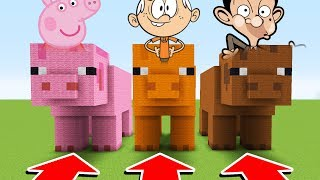 Minecraft : Do Not Choose The Wrong PIG (PeppaPig,LoudHouse,MrBean)(XboxOne/PE/MCPE)