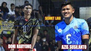 Kejar-kejaran point menegangkan Azis cs Vs DONI HARYONO feat full team JPE. set 4 grand Final