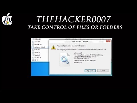 Take control of Files or Folders in Windows 8