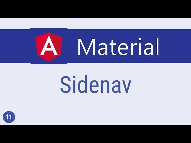 Angular Material Tutorial - 11 - Sidenav