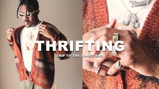 THRIFT SHOPPING VINTAGE CLOTHES | Trip To The Thrift Ep. 5 (Vintage Tees, Cardigans, Windbreaker)