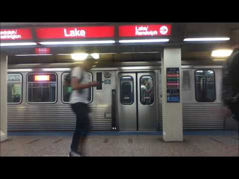 CTA Red Line Subway Harrison Station to Chicago Station 8/6/18
