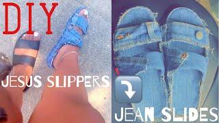 MAKE SOMETHING MONDAYS | DIY Jesus slippers to jean slides