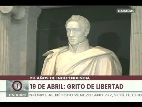 Acto por 211 años del 19 de Abril de 1810 en el Panteón Nacional, 2021