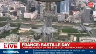Les avions du défilé aérien du 14 juillet à Paris
