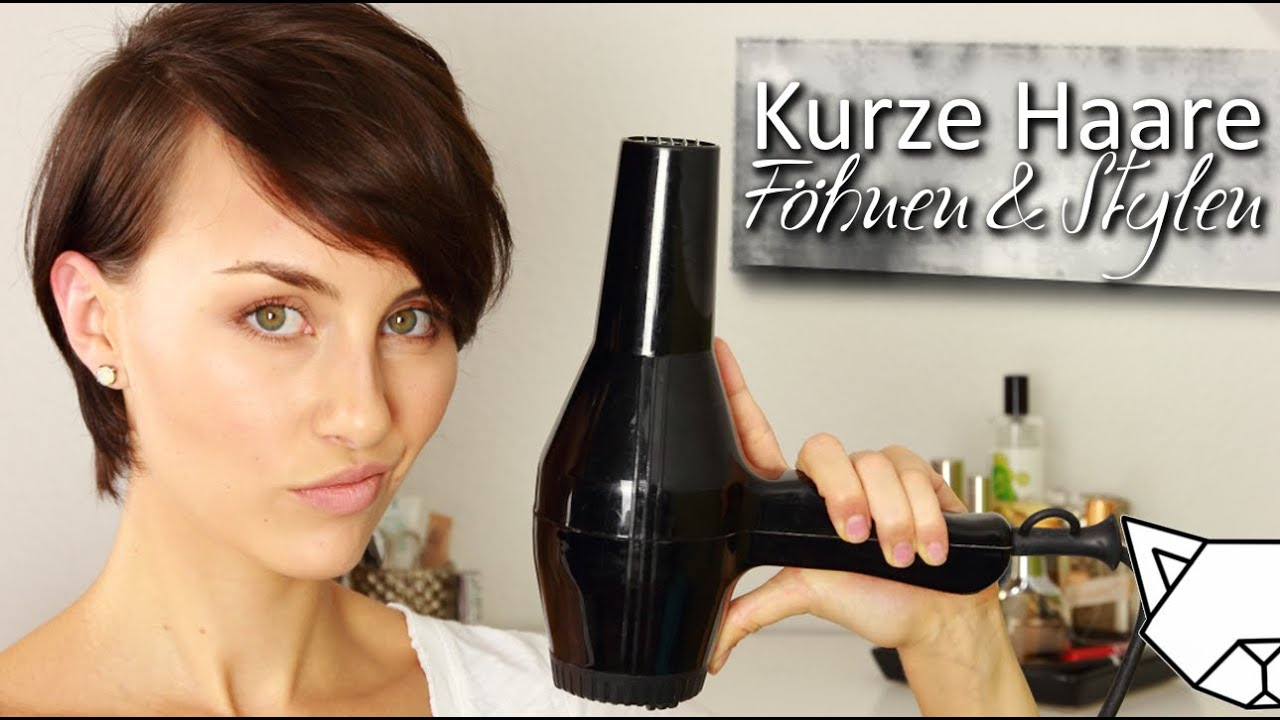 Kurze Haare Pixie Föhnen & Stylen YouTube