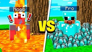 EXTREME PROS vs SUPER NOOBS IN MINECRAFT!