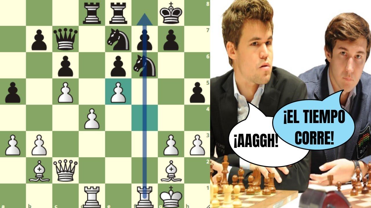 ⌚️ EL RELOJ ES UN PELIGROSO ENEMIGO: Karjakin vs Carlsen (Amber, 2008)