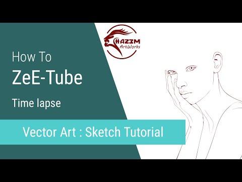 Vector Art Tutorial PT-1 Sketch - ZeE-Tube thumbnail