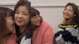 maknae yuna annoying the hell out of her lia unnie