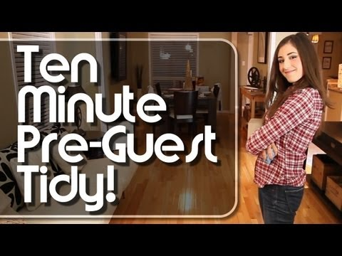 Ten Minute Pre-Guest Tidy | Day 1 of The 12 Days Of Clean! (Clean My Space)