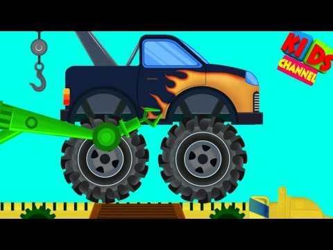 Monster Tow Truck Toy Factory | Cartoon Videos For Babies | Children Show by Kids Channel