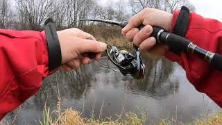 Рыбалка на спиннинг поздней осенью на воблер от фирмы Itumo Береговой спиннинг