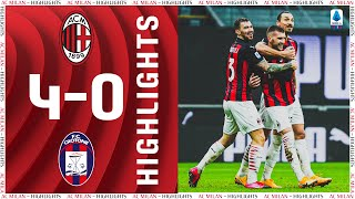 Highlights | AC Milan 4-0 Crotone | Matchday 21 Serie A TIM 2020/21