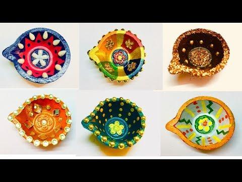 VeryEasy Diya decoration idea for diwali | Diya decoration | diya decoration competiton