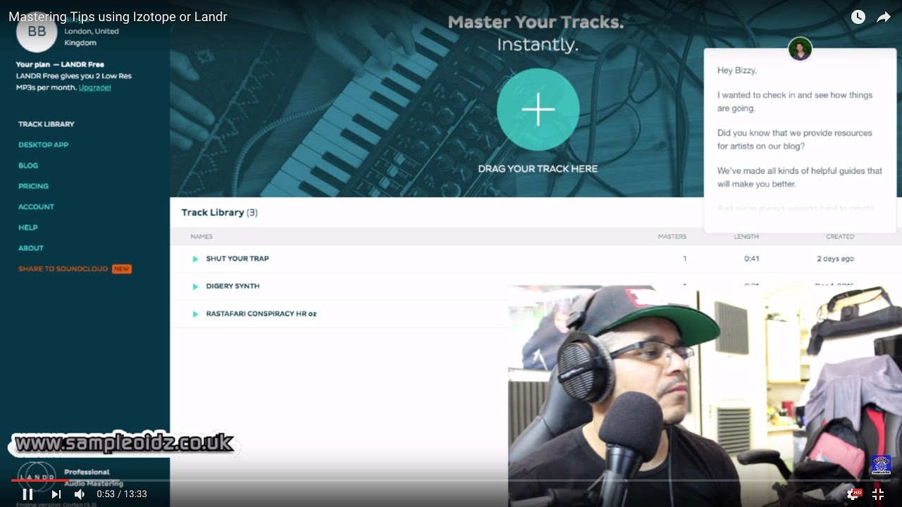 Mastering Tips using Izotope or Landr
