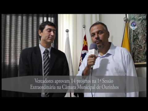 Vereadores aprovam 14 projetos na 1ª Sessão Extraordinária na Câmara Municipal de Ourinhos