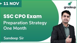 SSC CPO 2019 Exam: One-month Preparation Strategy by BSF Inspector | LIVE @ 8:00 PM