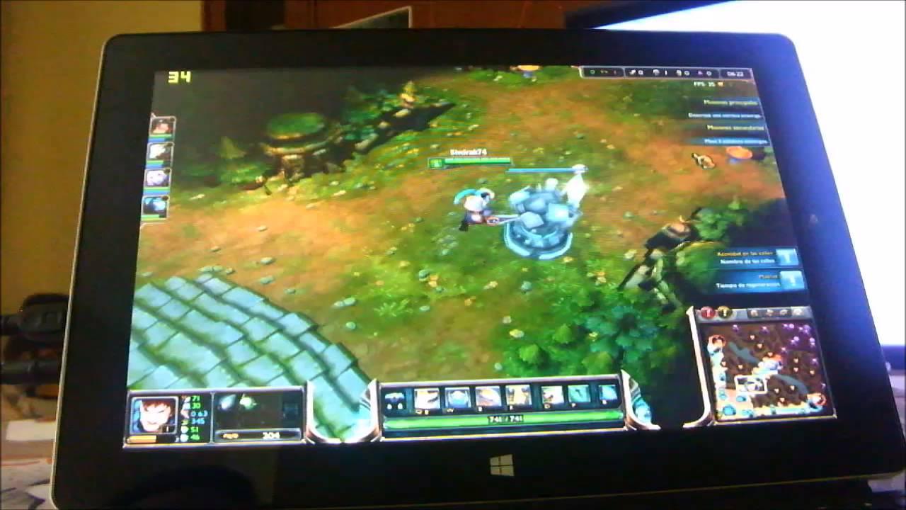 Z3740D Gaming: League Of Legends En El Tablet Livefan F3C
