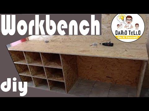 Tavolo da lavoro con ripiani _Work Bench PDF new Home New Workshop  _Nuova casa nuovo laboratorio
