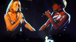 Mariah Carey with whitney houston - when you believe live paris