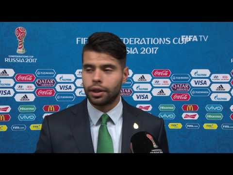 Nestor Araujo Post-Match Interview - Match 9: Mexico v Russia - FIFA Confederations Cup 2017
