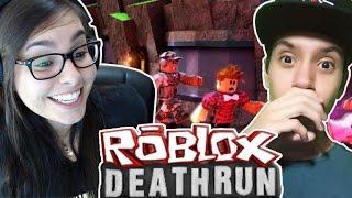PRIMEIRA VEZ DO ROBIN HOOD CORRENDO DA MORTE (DeathRun) - ROBLOX c/ 2 facecams