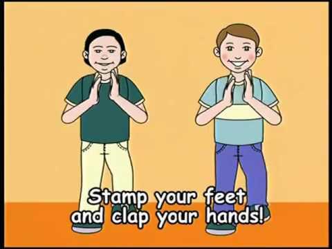 Funny phisical training in English! Let's move! Физминутка на английском
