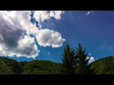 Hills and sky in Croatia-day and night timelapse