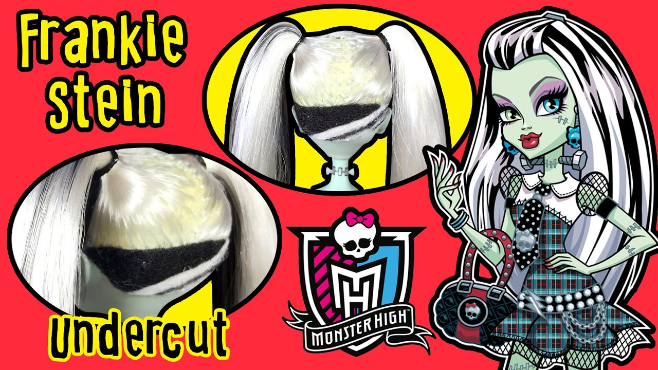 Monster high frankie stein undercut hair tutorial doll haircut monster high frankie stein undercut hair tutorial doll haircut making kids toys winobraniefo Image collections