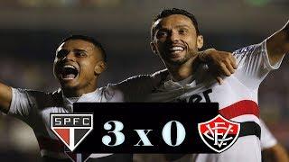 São Paulo 3 x 0 Vitória - Narração: Rogério Assis [EMOCIONANTE] 12/06/2018