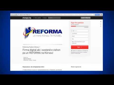 Kon ta firma pa REFORMA online?