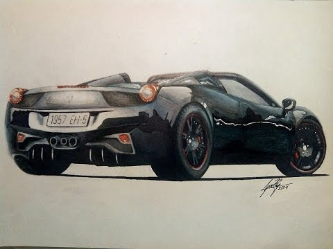 2014 Ferrari 458 Spider >> Drawing ferrari 458 italia spider - YouTube