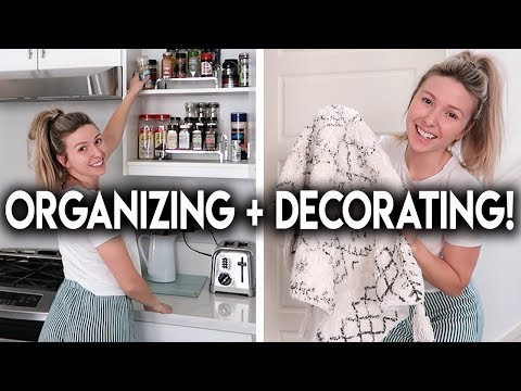 ORGANIZE + DECORATE WITH ME!