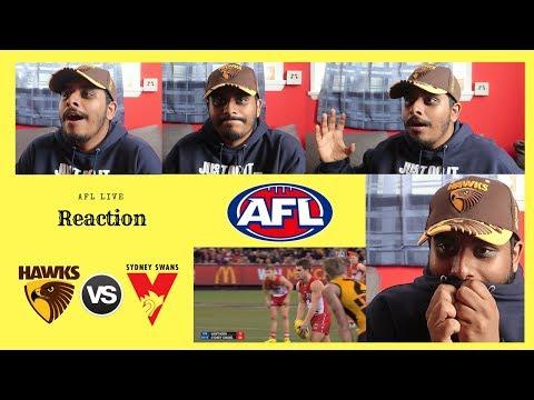 #AFL LIVE REACTION: Hawthorn V Sydney Swans