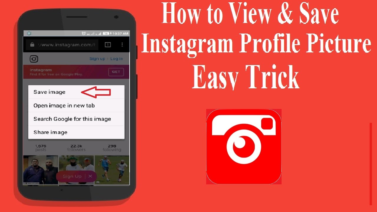 How to View & Save Instagram Profile Picture - YouTube