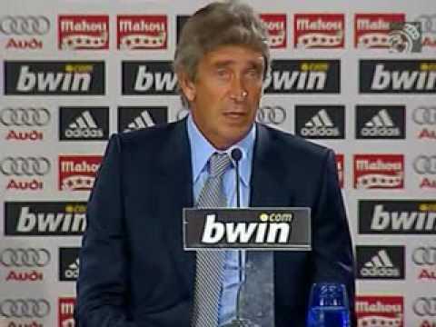 Presentación de Manuel Pellegrini en el Real Madrid