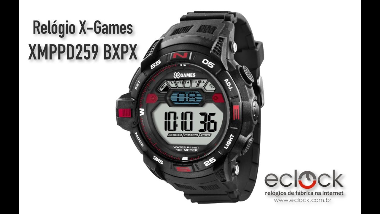 d6494a8c0c548 Relógio X-Games Masculino XMPPD259 BXPX - Eclock - YouTube