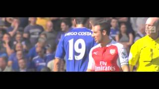 Chelsea 2-0 Arsenal All Highlights(19/9/15)(Including Red Card Incident)